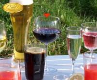 Verres à vin rouge en polycarbonate, jeu de 2 470ml