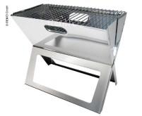 Tom charcoal grill pliable, acier inoxydable, surface de grillage 48x30cm