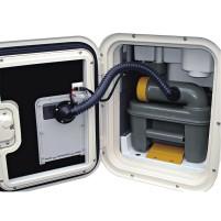 SOG I 12V variante de porte d'aération des toilettes pour Thetford C2, C3, C4 | blanc