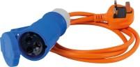 Câble adaptateur CEE fiche GB à coupleur CEE 3-pôles 1.5 m