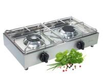 Cuisinière à gaz professionnelle en acier inoxydable 2fl.avec fusible d'allumage,30 mbar