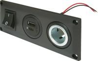 Pro Car Built-in USB C/A Double Socket avec USB- C/A Double Socket