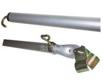 Dachhakenstange Alu 1,6-2,6m, 3-teilig, Ø25x1mm/Ø2 2x1,2mm