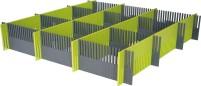 Purvario Pure Light Edition Stauleisten Set für Schubladen 8 Stück anthrazit / lime anthrazit, lime