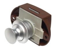 Möbelverschluss Push Lock silber, einseitige Betät igung