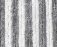 Rideau en polaire 120x185 gris/blanc