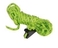 Spannleine grün Lg.4m, Ø4mm, 4 Stk., reflektierend