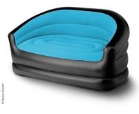 canapé gonflable RELAX DOUBLE, 145x78x65cm, noir/bleu glacier