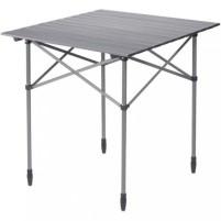 Table de camping Berger Alu avec plateau roulant 70 x 70 cm