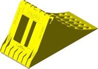 AL-KO UK 53 K-2 Unterlegkeil mit Gleitschutz gelb
