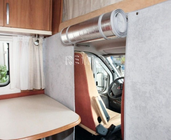 Thermo Trennvorhang f.Reisemobile mit Alkoven,Grau
