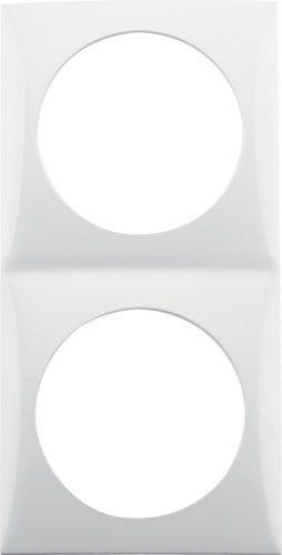 Cadre de couverture de berker 2gang polar white glossy