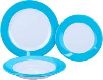 Gimex Ensemble d'assiettes en mélamine bleu arc-en-ciel 3 pcs.