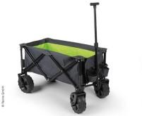 Gepäckwagen/Strandbuggy, anthraz/lime, breite Reif en für Sand