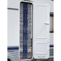 Berger Rideau molletonné Chenille bleu foncé, gris | 230 x 120 cm