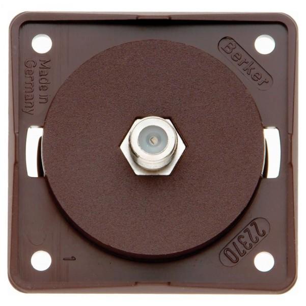 Boîte de connecteur d'antenne Berker SAT marron