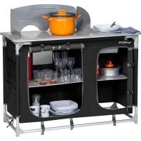 Berger Campingküche mit Spüle schwarz schwarz, grau