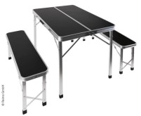 Sitzgruppe PICKNIC, Tisch 90x67x70cm u. 2 Bänke je  87x24x40cm