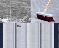 Tapis d'auvent, bleu-gris-blanc, 2,5x6m