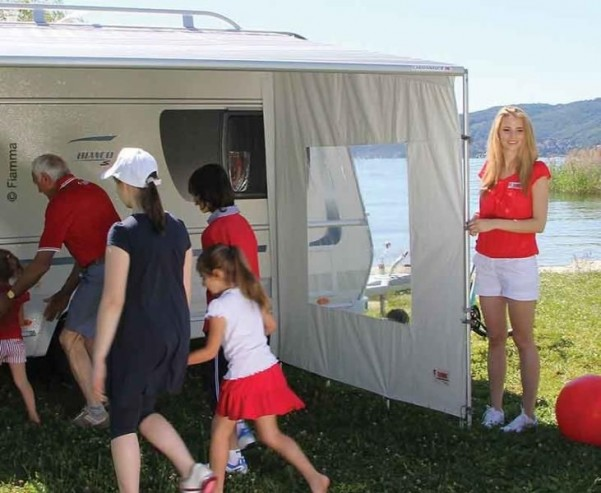 FIAMMA SIDE Caravanstore XL, Markisenzelt-Seitente il mit Fenster