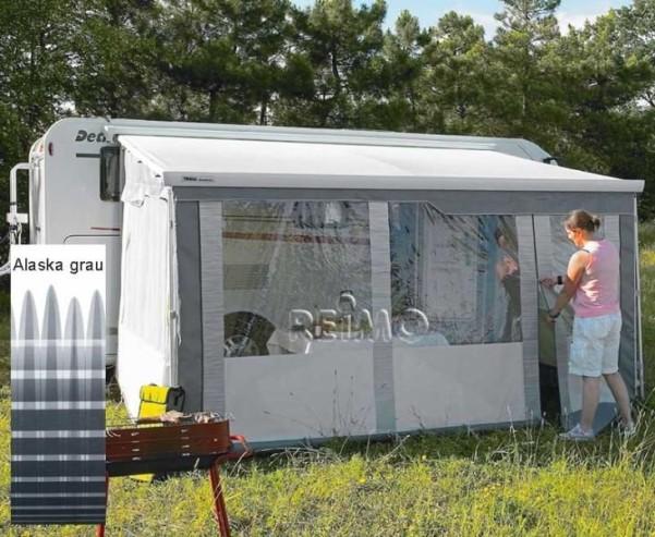 Safari Residence Frontteil XL*5,00m*260-275cm Alas ka grau