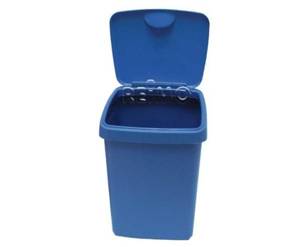 Klappdeckeleimer 10L, blau