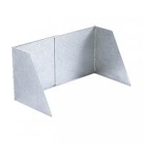 Pare-brise en aluminium 32cm 32 cm