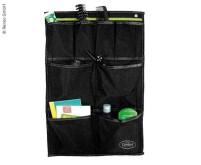 Utensilo TESSA Maxi, fermeture par oeillets et passepoil, noir/citron vert W40xH60cm