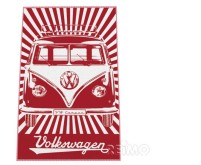 VW Collection Bulli-Strandtuch rot