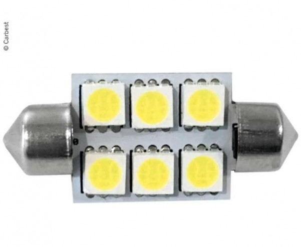 LED Soffitte, 1,5W, 110 LUMEN, 6 WARMWEIssE SMD