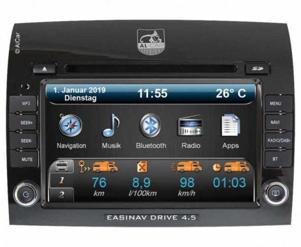 Navigationssystem EasyNAV Drive 4.5 Multi-Can DAB+ für Fiat Ducato