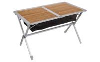 Berger Table roulante en bambou et aluminium 115 x 75 cm