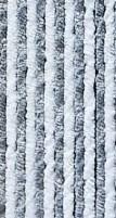 Rideau en polaire 100x200cm gris/blanc