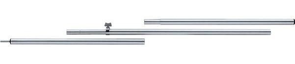 Berger Aufstellstäbe Teleskopierbar Aluminium 165 - 250 cm | 25 x 1 mm