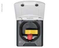 Gassteckdose Magnet hellgrau 130x145mm, Montage-DM  95mm