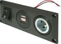 Pro Car Einbausteckdose mit USB-A Doppelsteckdose