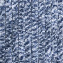 Berger Chenille-Flauschvorhang grau, blau, weiss   185 x 56 cm