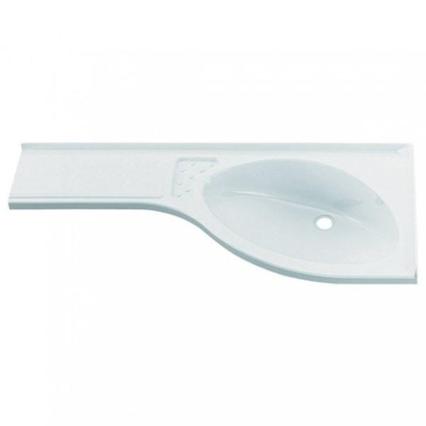Tablette de lavabo d'angle à gauche