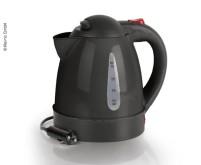 Wasserkocher 12V/150W, 1 Liter, schwarz,verdeckte  Heizspirale