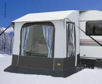 Auvent d'hiver Cortina 2 f. Caravanes,Poteaux en acier, W220xD180xH235/255cm