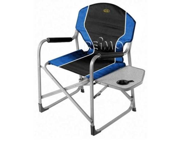 Chaise pliante Director's Chair Arezzo, avec table, bleu / noir