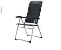 Chaise de camping Zenith, gris foncé, tube rond, légère, étroite pliable