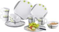 Berger Dots Set de vaisselle en mélamine 16 pièces Vert