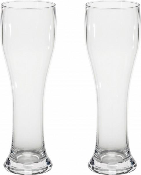 Gimex Kunststoff Weizengläser 0,5 l 2er Set