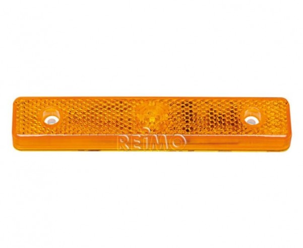 Feu de position latéral à LED, 12V 0,6W, jaune, câble de 250 mm, IP67