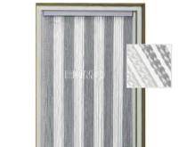 Rideau de porte KORDA 60 x 190cm /blanc, gris/