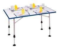 Table de camping Uwe Camp4, 115x69x55/76cm, cadre en aluminium 16/29mm