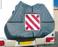 Housse pour 4 vélos avec poche pour le panneau d'avertissement