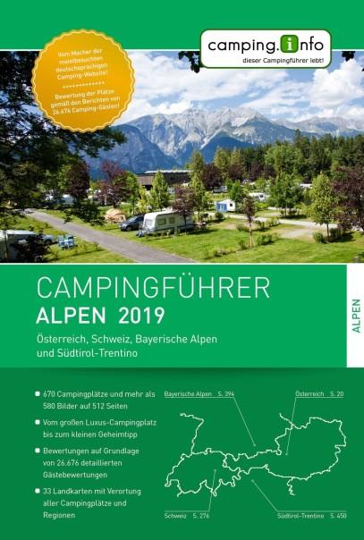 Camping.info Campingführer Alpen 2019