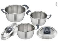 Set de casseroles Tefal 6pcs : Ø16,18+20cm, 3 couvercles en verre avec poignée rabattable